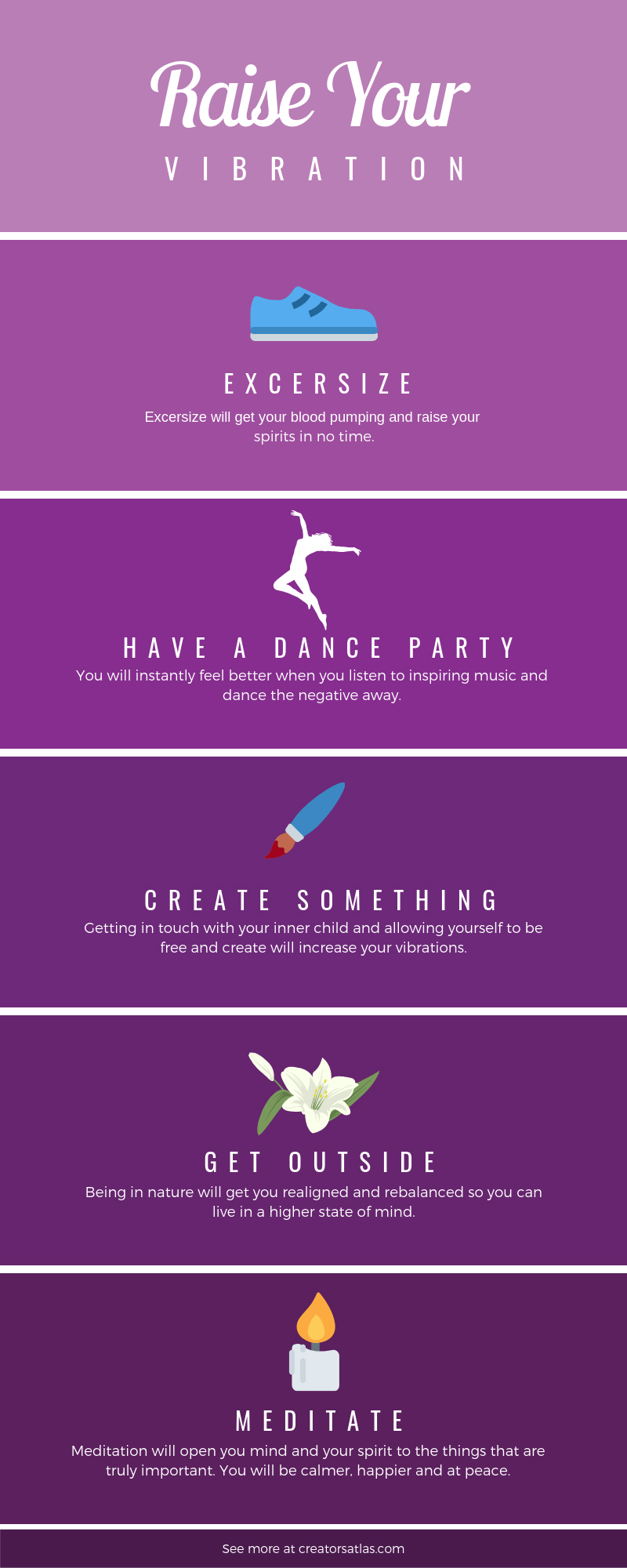 Raise your vibration and get your life back with these easy ideas. You will be back to your high vibe self in no time after practicing these tips.  #Raiseyourvibrations #highvibes #positivelife #howtoraiseyourvibrations